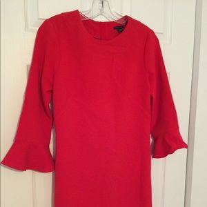 Cute red dress with ruffle sleeves